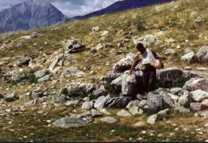 1994, Marcel Bellieud aux assalès de l'Estrop (Péone)