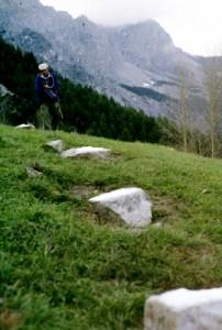 1996, Marcel Bellieud aux assalès des Béoules (Péone)