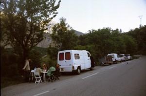 2008, la halte pour la nuit sur la route d'Estenc