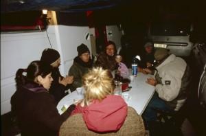2009, à la halte pour la nuit à Briançonnet