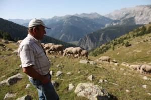 2011, Jean-Paul Loquès sur la montagne de Claï