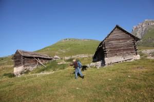 2011, Prosper Bressi vers le Clot Giordan