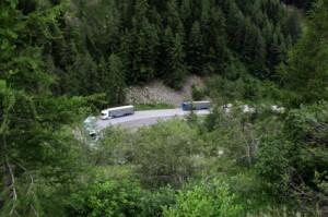 2014, l'arrivée des bétaillères sur la route d'Isola 2000
