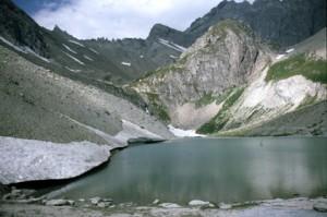 le lac des Béraudes, 1986