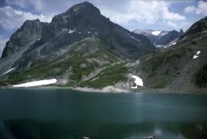 le lac des Rochilles, 1986