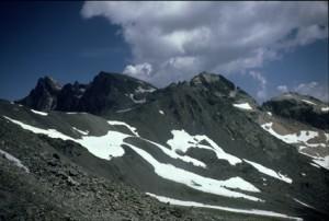 le Mont Tabor vu du col des Muandes, 1986