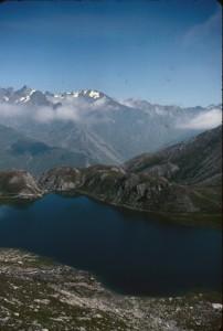 le lac Bleu, haute vallée de la Varaita, 1978