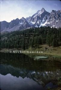 Ceillac, la montée vers le Col Girardin, le lac Miroir, 1983