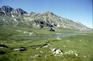 le lac du Longet après le départ de Maljasset