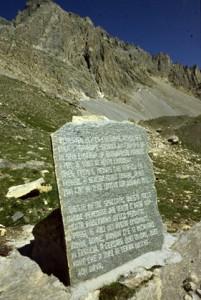 la stèle du col du Sautron, 1990