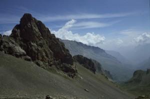 la descente du col du Sautron vers Chiappera, 1990