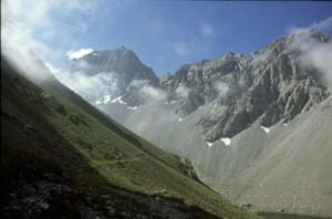 la montée vers il colle d'Enchiausa, 1990