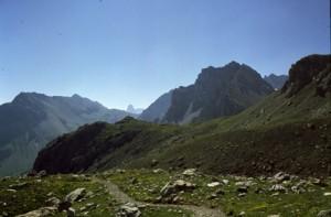 la montée vers il colle de la Scaletta, 1990