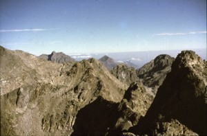 1986, vue depuis le sommet de la Cougourde
