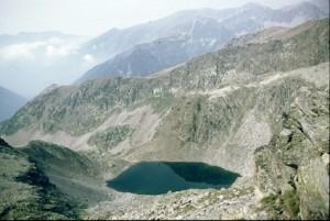 1986, le lac du Mercantour