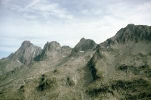 1986, vue depuis la cime du Mercantour (2772m)