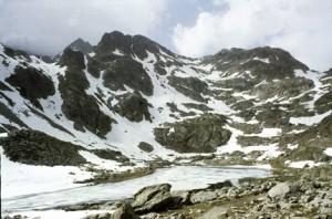 1988, le lac et le col des Fenestres