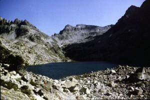 1981, le lac Nègre vue vers le Pas de Préfoun