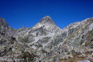 1986, le Guilhé (2999m) vu de la Baissette