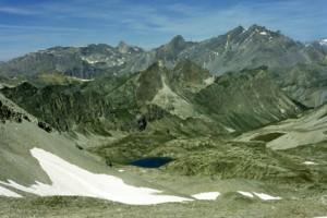 les lacs du Roure vus du col de la Traverse