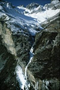 cascade de Aiglière, je tiens à 1985