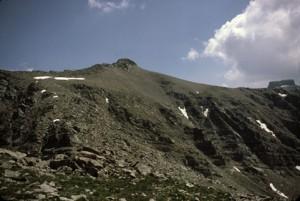 Bec du Château (2800m) vu de Sanguineirette (2855m), 1985
