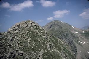 Cime de Gias Vieux 2748m & Tête de Sanguinière 2856m vus de Sanguineirette, 1985