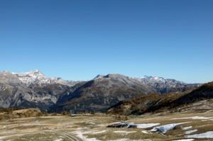 Cime de Pal (2818m), Cime de l'Aspre (2471m) & le Mont Mounier (2817m) vus du col des Champs (2045m), 2012