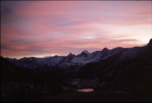 Estenc au soleil couchant, 1987