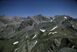 Les Garrets (2817m) vus du sommet de la l'Avanche (2729m), 1985