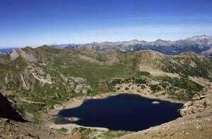 le lac d'Allos (2200m), 1990