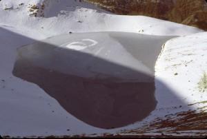 le lac de la Petite Cayolle (2588m) en novembre 1982