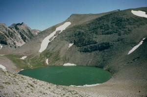 le lac des Garrets (2621m), juillet 1984