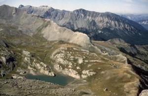 les lacs de l'Encombrette (2290m), 1982