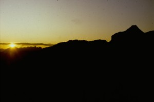 lever de soleil sur Cime Nègre, Péone 1992