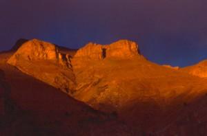 coucher de soleil sur Cime Nègre, Péone 1995