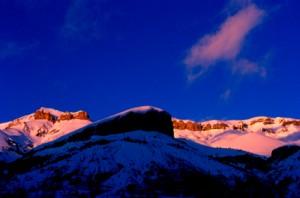 coucher de soleil sur Cime Nègre, Péone 2002
