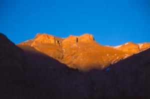 coucher de soleil sur Cime Nègre, Péone 2005