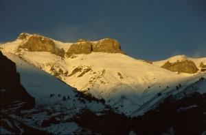 coucher de soleil sur Cime Nègre, Péone 2008