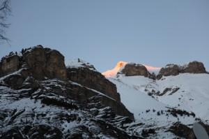 coucher de soleil sur Cime Nègre, Péone 2013