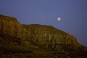 la lune sur la roccia de Mians, Péone 1992