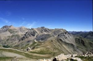 le Mont Pelat (3050m & les Garrets (2822m) vus du sommet de la l'Avanche (2729m), 1990