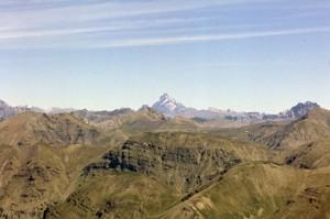 le Mont Viso vu des Garrets, juillet 1984