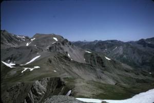 le Mont Viso vue de l'Alavanche, juillet 1985