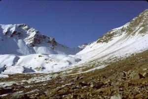 le col de la Petite Cayolle (2639m), 1982