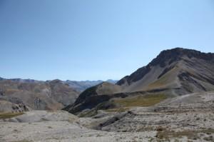 vue du col de Pal vers le Mont Mounier 2012