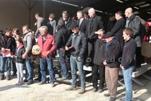Les éleveurs qui ont participé au concours et les lauréats